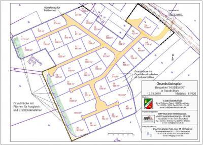Grundstücksplan Heidweg