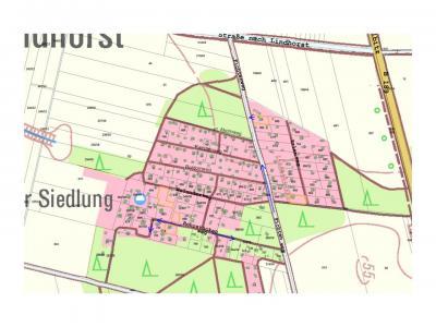 Lageplan Baltzer Siedlung