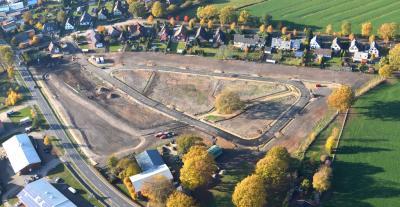 Luftbild Baugebiet Eichenring vom 07.11.2018; © Gemeinde Bokholt-Hanredder