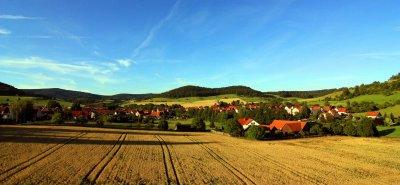 Blick vom Baugebiet auf Lengfeld