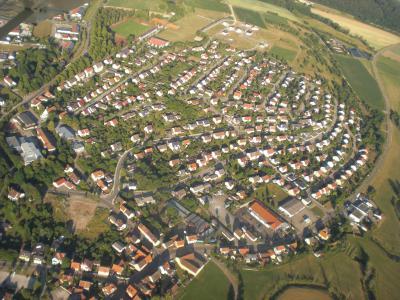 Blick auf die Siedlung