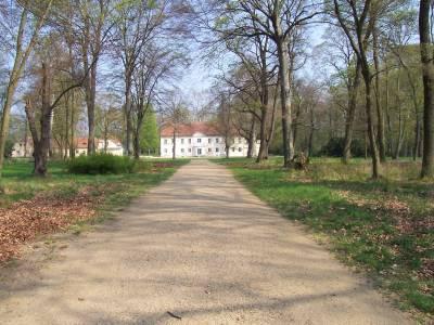 Blick zum Schloss Sacrow