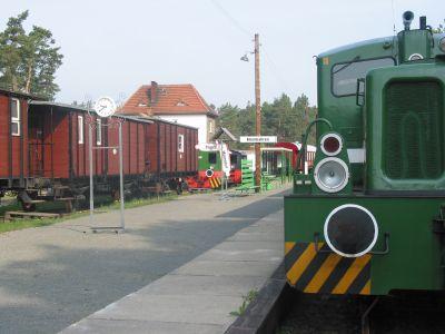 Bahnhof der Niederlausitzer Museumseisenbahn