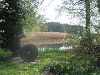 Mühlstein der Wassermühle