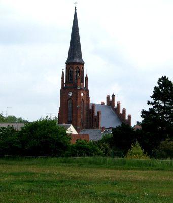 Blick  vom Gemeindehof