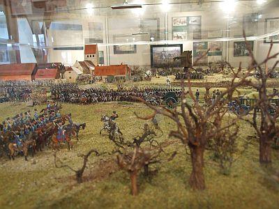 Diorama: Gefecht bei Vehlitz 5. April 1813