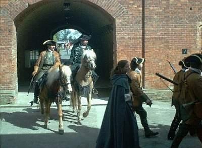 Reiter im Fort Gorgast