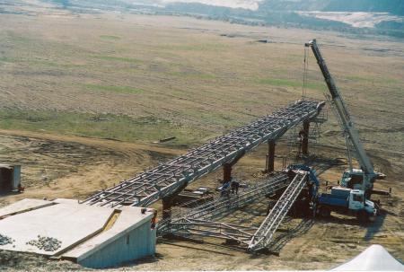 Montage der Seebrücke 2005