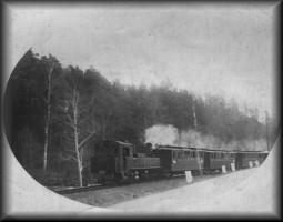 die Schmalspurbahnstrecke Herrnhut - Bernstadt (hier im