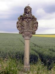 Ein traditioneller Bildstock in der Rodheimer Flur