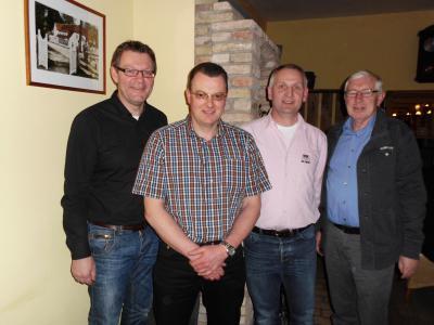 Der neue Vorstand der CDU-Busdorf (März 2014) v.l. Borne Lammers, Horst Clausen, Olaf Nehls, Peter Seemann