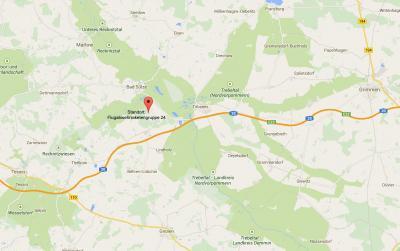 Karte/Lage der Flugabwehrraketengruppe 24