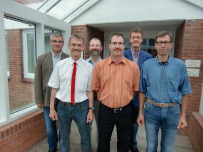 Die SPD-Fraktion Busdorf und seine bürgerlichen Mitglieder stellen sich vor: Tom Landfester, Andreas Fechtner, Ullrich Hunzinger, Helmuth Pehle (SSW), Marco Bibow und Norbert Steffen