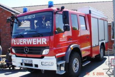 Das neue Feuerwehrfahrzeug der Gemeinde Freienwill ein LF 10