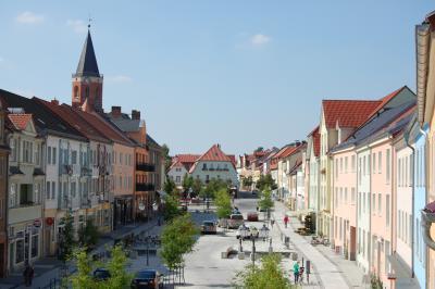 Flaniermeile Cottbuser Straße zum Marktplatz