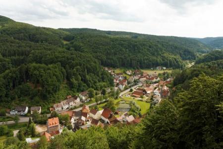Blick vom Turm auf den Ortsteil Hirschbach - Bildrechte Jürgen Zuber