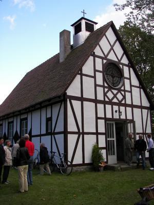 Fachwerkkirche im Ortsteil Bollensdorf