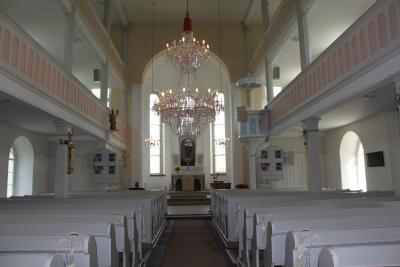 Blick in die Beuthaer Kirche.