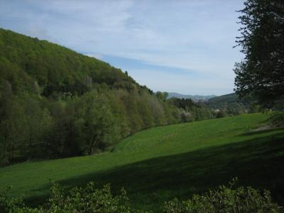 Blick nach Hoheneiche und Reichensachsen von der Barbarossahütte Hoheneiche