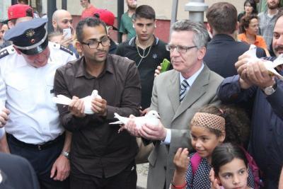 Der Bundesinnenminister zu Besuch im Soldiner Kiez