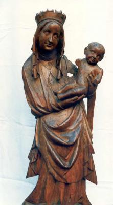 hölzerne Madonna mit Kind