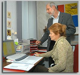 Dr. Ruge und Frau Lebahn
