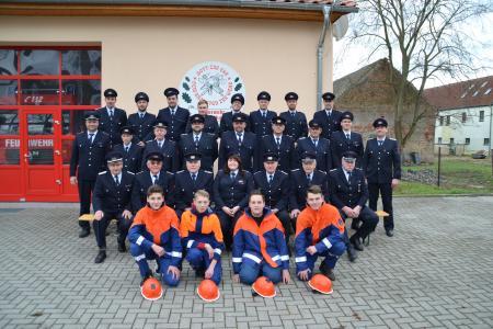 Mitglieder der Ortsfeuerwehr Stolzenhain an der Röder