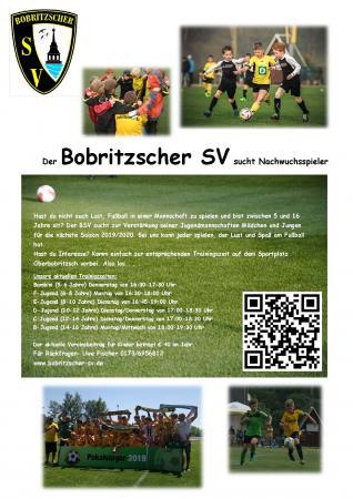 Bobritzscher SV sucht Nachwuchsspieler