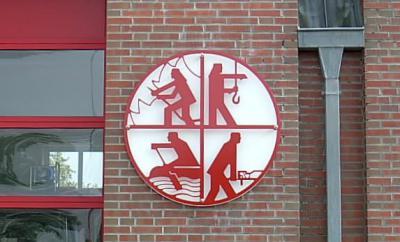 Detailansicht von der Fassade des Feuerwehrgerätehauses
