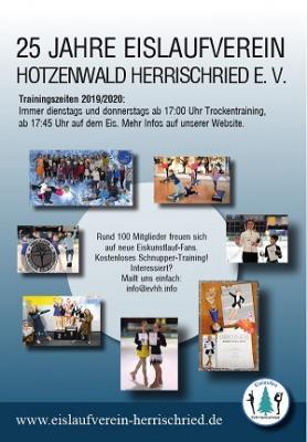 Flyer 25 Jahre Eislaufverein Trainingszeiten
