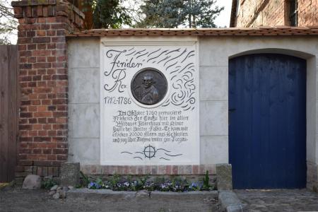 Gedenktafel zur Erinnerung an den Aufenthalt Friedrich des Großen