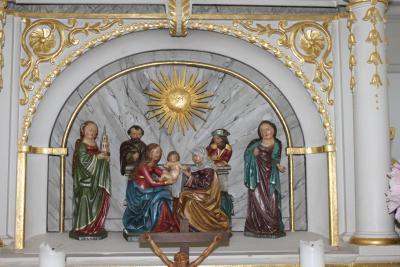 Das Altarbild in der Kirche in Geyersdorf.