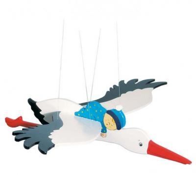 Schwingfigur Storch