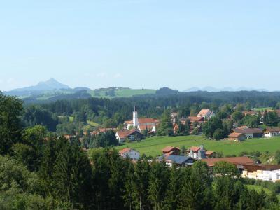 Blick auf das Dorf Richtung Süden