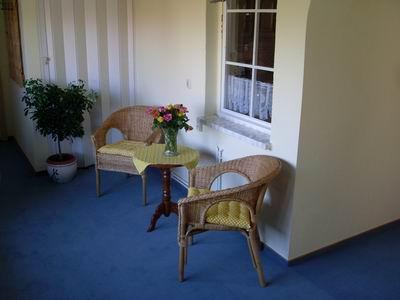 Die Sitzecke im Haus
