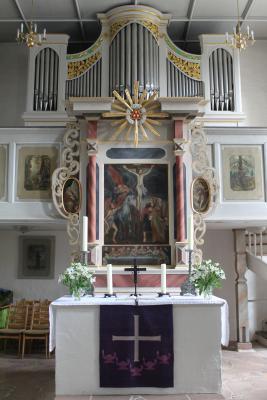 Der Altar in Hormersdorf