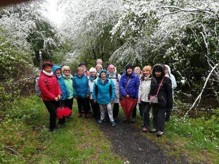 Die TV-Wandergruppe bei der 3 Tage Wochenendwanderung im Mai 2019