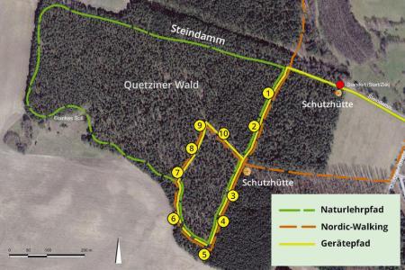 Übersichtskarte Heilwald Quetziner Tannen