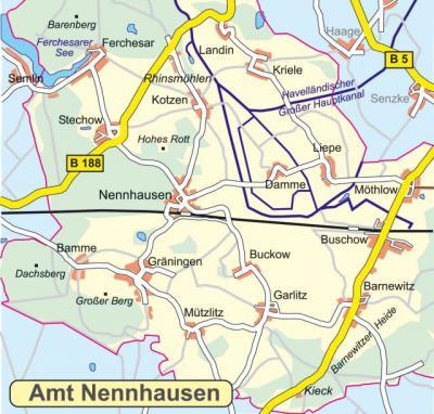 Amtsbereich Nennhausen (zur Verfügung gestellt von: Werbefachberatung G.Schulze)
