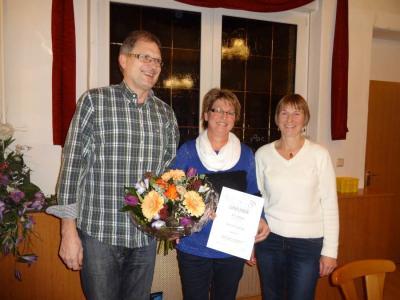 30 Jahre Chormitgliedschaft Ehrung von K. Guylay