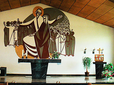 Katholische Kirche in Neukloster, Altarbild von Rudolf Brückner-Fuhlrott,