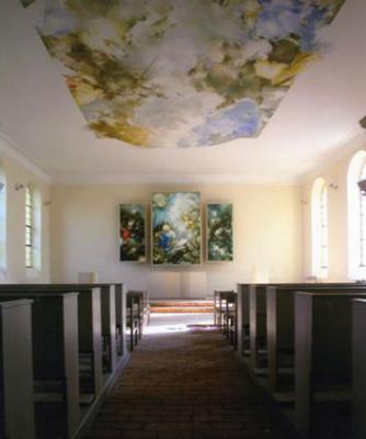 Peter Schuberts Deckengemälde und dreiflügliger Altar