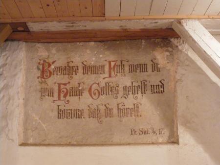 Kirche Wahrenbück Eingang
