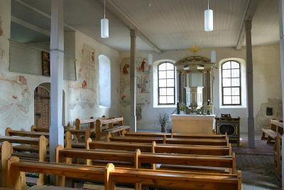 Kalkwitz - Kirche mit Wandmalerein