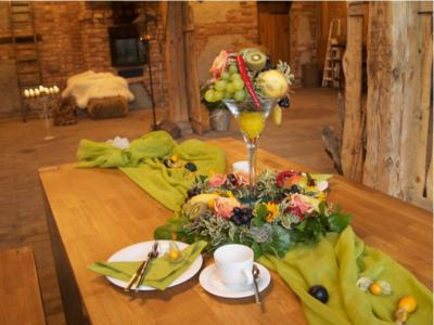 Tischdekoration zum Erntefest