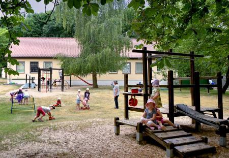 Spielplatz der Kita (Foto: Matthias Lubisch)