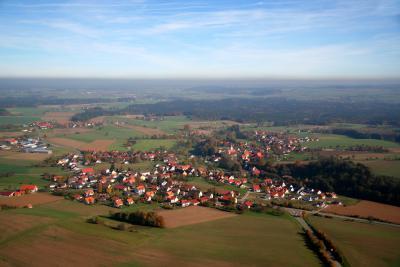Luftaufnahme von Herdwangen