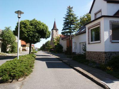 Blick zur Kirche