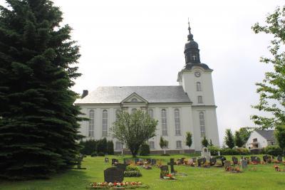 Die Kirche in Mildenau