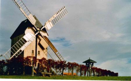Die Bockwindmühle wurde 2014 denkmalgerecht saniert und restauriert
